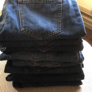 Multiple pairs of CAbi size 4 jeans.